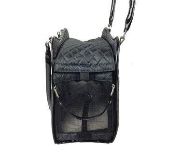 Exquisite' Handbag Fashion Pet Carrier, One Size, Black 5