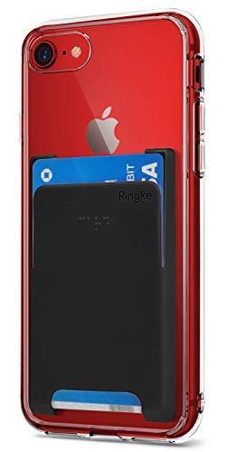 Ringke Slot Card Holder [Schwarz] Handy Kartenhalter 3M Befestigung Kartenetui Kartenfach Kreditkartenetui Smart Wallet für Galaxy S9, S9 Plus, iPhone X, Xs Max, XR, 7, 8, Huawei P20, Sony Xperia Usw.