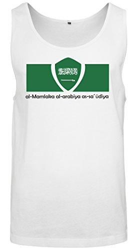 2Store24 Copa del Mundo 2018 Camiseta Sin Mangas Hombre Bandera de Arabia Saudita