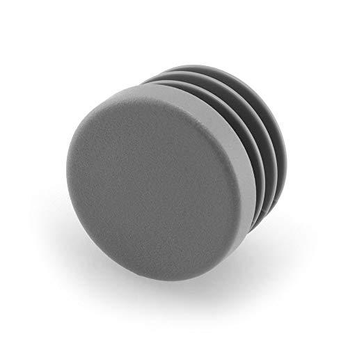 GLEITGUT 4 x Lamellenstopfen 33 mm bis 35 mm Innenrohr - Rundrohrstopfen 38 mm Außenrohr - Stopfen grau