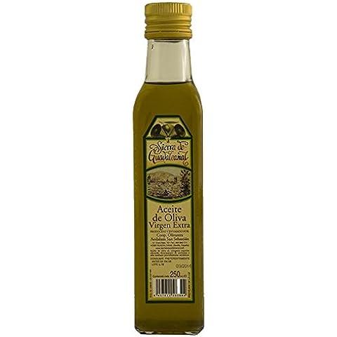 Aceite de Oliva Virgen Extra. Sierra de Guadalcanal 2016. Botella. Cristal. Transparente. 250 CC