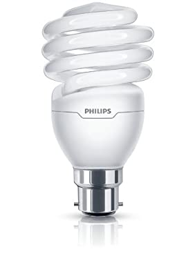 Philips Tornado Compact Fluorescent Spiral Light Bulb (B22 23 W) - Warm White produced by Philips - quick delivery from UK.