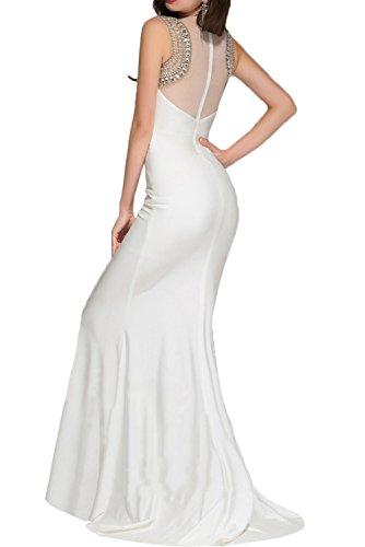 Gorgeous Bride Romantisch Lang Rundkragen Meerjungfrau Satin Tüll Schleppe Abendkleider Lang Cocktailkleider Ballkleider Rosa