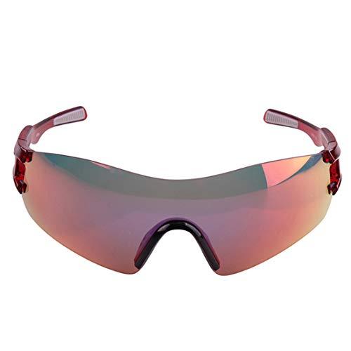 Retro Vintage Sonnenbrille, für Frauen und Männer Übergroße polarisierte Sport Sonnenbrille männer Frauen tac objektiv for Radfahren Baseball Laufen Angeln Golf Klettern gläser (Farbe : Red)