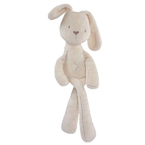 MagiDeal Felpa de Bebé Regalos de Cumpleaños Lindos Suaves Dulces Forma de Conejo Beige 55cm Juguetes...