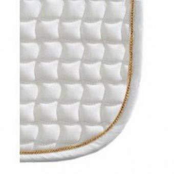 Eskadron Schabracke Cotton mit Farbiger Biese, weiß/Gold, Dressur