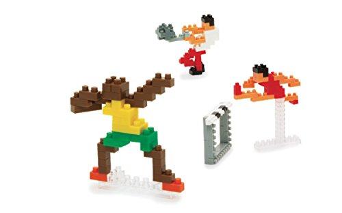 nanoblock NBCB-002 - Athletics / Leichtathletik, Minibaustein 3D-Puzzle, Mini Collection Serie, 160 Teile, Schwierigkeitsstufe 2, mittel