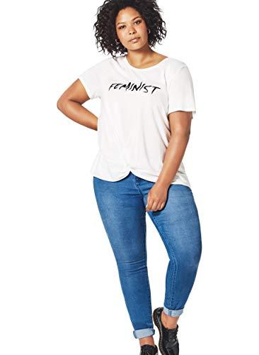 Zizzi Damen Amy Slim Jeans, Blau (Light Blue 1030), 52 (Herstellergröße: 52/78 cm) (Plus-size-skinny Jeans Für Frauen)