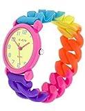 Uhr für Kinder Kinder Jungen Mädchen Gummiband Bunte Einfarbige (RGoma01-M2)