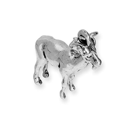 TheCharmWorks Sterling Silber Ziege Charm (Ziege-charme-halskette)