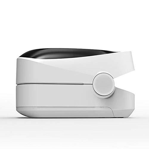 Cvbndfe Bluetooth Fingerclip-Oximeter,Schlaf Überwachung Funktion,EIN-Knopf-Messung,Hochleistungsmessung Ist Genauer,Finger Clamp Pulsoximeter,Weiß
