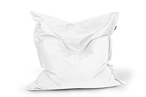 BuBiBag Sitzsack Sitzkissen Bean Bag Rechteck Größe 160 x 145 cm Indoor und Outdoor (weiß)