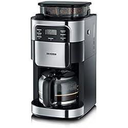 SEVERIN KA 4810 Kaffeeautomat mit Mahlwerk, Edelstahl-gebürstet/schwarz