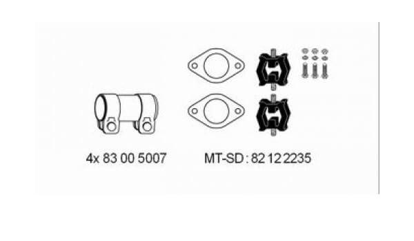 Abgasanlage HJS 82 12 2235 Montagesatz