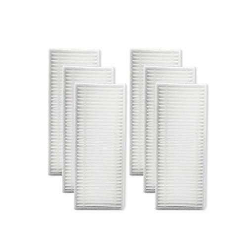 FBGood Staubsauger Ersatzteile, Reinigungs Swerkzeugsätze Kompatibel mit Haier TAB-T550WSC / TAB-T560H / JD5F0LSC / TAB-JD5G0Z Kehrmaschinen Zubehör (6 Stück HEPA Filter)