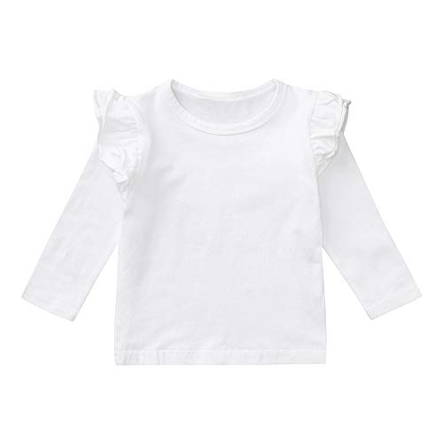 XXYsm Baby Mädchen Langarmshirt Pullover Tops Oberteile Langarm T-Shirts Blusen Weiß ❤80/6-12 Monate - 10 Langarm T-shirt
