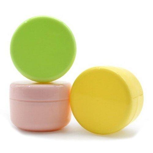Kleine Finger, 5Stück/Set leere Make-up-Glas-Behälter, Kosmetika, Lotion, Creme gelb gelb ()