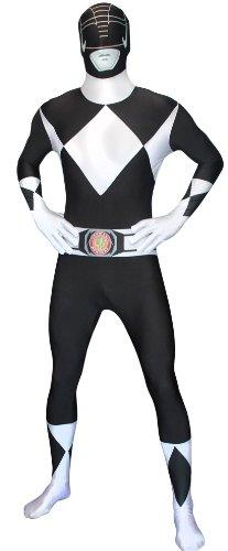 Generique - Schwarzes Morphsuits Power Rangers Kostüm für Erwachsene (Erwachsene Ranger Kostüm Power Weiße)