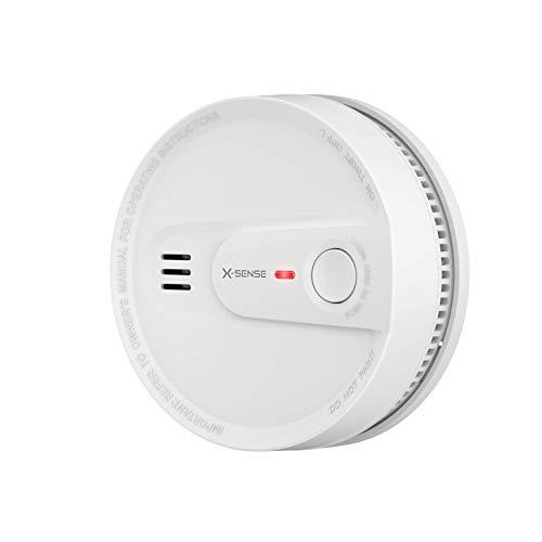 X-Sense 10-Jahres-Rauchmelder, Schutz vor Fehlalarm, Rauchmelder 10 Jahre Batterie, Verbesserter Feuermelder, TÜV nach EN14604 Zertifiziert, SD2L (1 Stück)