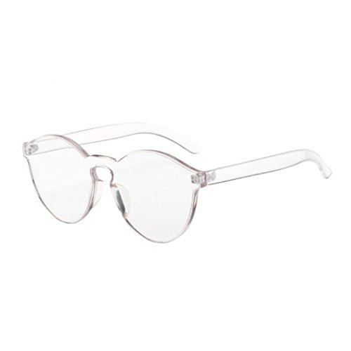 Occhiali da sole da donna uomo polarizzati -beautyjourney occhiali da sole cat eye donna rotondi vintage - donna moda occhio di gatto shades occhiali da sole uv integrata caramelle colorate (bianca)