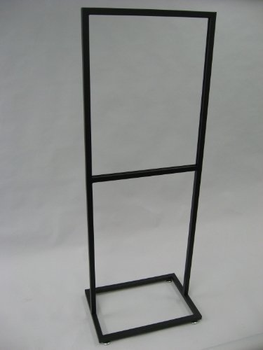 22w-x-28h-bulletin-sign-holder-1-square-tube-with-open-base-with-levelers-matte-blk-lot-of-1-by-unkn