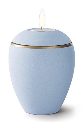 Keramik Kerzenhalter Verbrennung Asche Urne–Hellblau