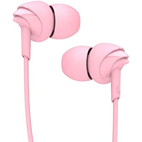 boAt Bassheads 100 in Ear Wired Earphones with Mic(Taffy Pink)