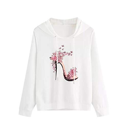 ZEZKT-Fashion High Heels Motiv Frauen/Damen Sweatshirt Sweater Blusen,2018 New Streetwear Herbst Winter,Patchwork O-Ausschnitt Langarmshirt...