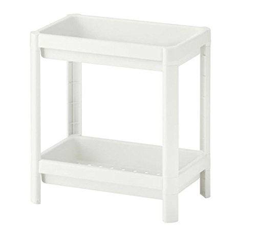 Ikea 803.243.26 Vesken 2 Shelving Unit, White, 36 x 23 x 40 cm