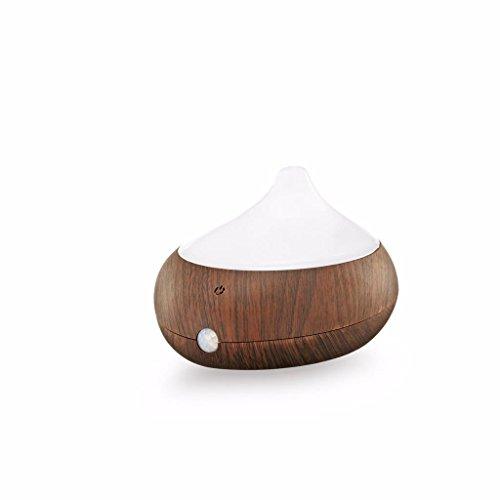 GX Diffuser Humidificador de Aceites Esenciales Difusor de Aceites Esenciales Electrico Dispensador de Perfumes Sensor Infrarrojo Portable para El Tocador Madera Oscura