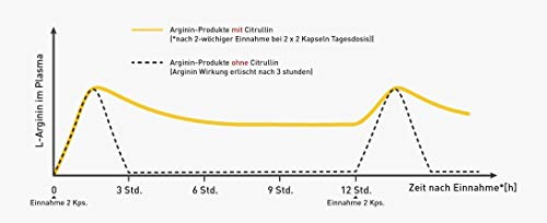 VERGLEICHSSIEGER 2019 bei ARGININ.DE: L-Arginin Base plus Citrullin (entspr. 2.400mg Arginin HCL) plus Maca Extrakt 680mg (entspr. 34.gr Maca Pulver) HOCHDOSIERT & Cordyceps sinensis – zest'active - 7