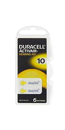 60 x Duracell Activair Hörgeräte Batterien/ EasyTab/ Typ 10 BL6/ 10 x 6 Stück/ 1,45V/ Zink-Luft/ Hearing Aid (Duracell Hörgeräte-batterien)