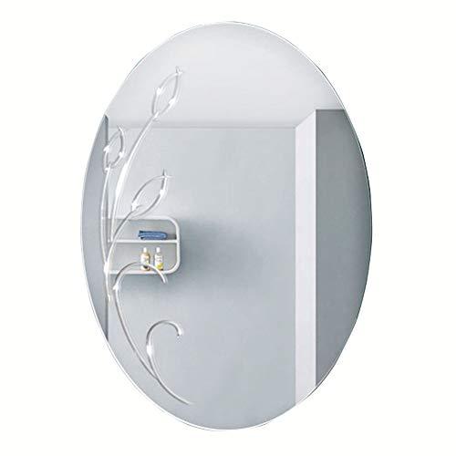 Badezimmerspiegel/rahmenlose Waschtischspiegel ovale Waschtischspiegel Herren Rasierspiegel Schminkspiegel 50 * 70cm (Rahmenlose Badezimmer Spiegel)