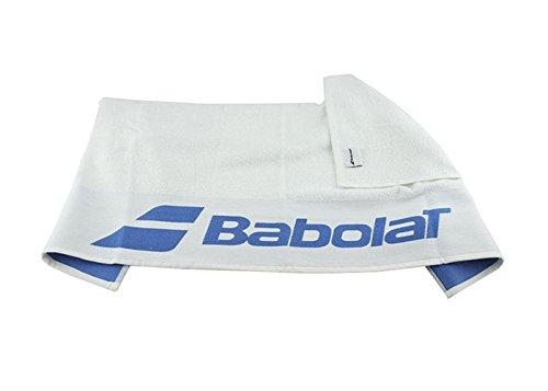 Babolat Tennis Handtuch weiß mit blauem Logo -