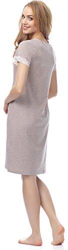 Merry Style Damen Nachthemd MSFX306 Beige