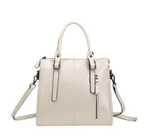 fanselatm-womens-premium-fashion-faux-leather-tote-handbag-cross-body-bag-white