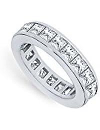 Two and Half Carat Platinum Diamond Eternity band Second and Third Wedding Anniversary Jewelry