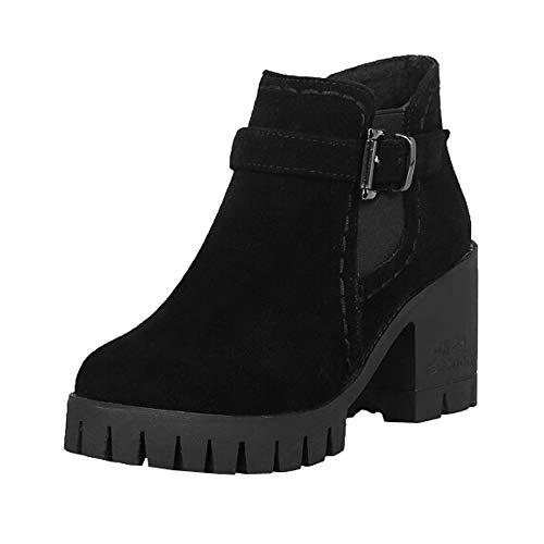 Botas de tacón Alto Plataforma para Mujer QinMM Zapatillas Botines Zapatos de otoño Invierno Fiesta...