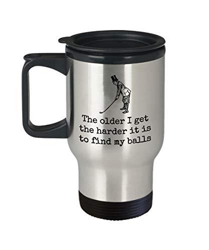 Divertida taza de golf de viaje, idea de regalo para golfista, jugador de golf, regalo más duro es encontrar mis pelotas