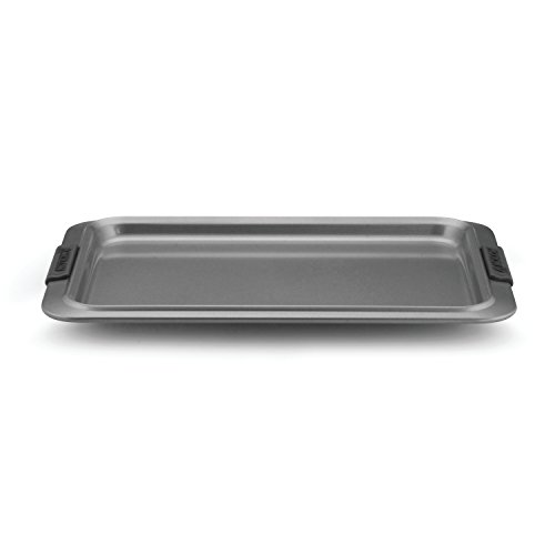Anolon Advanced Nonstick Bakeware 10-Inch x 15-Inch Cookie Sheet, Gray with Silicone Grips Anolon Non Stick Pan