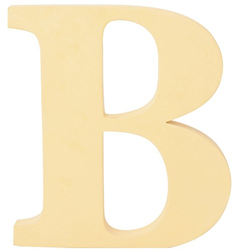 Price comparison product image Contemporary extra extra-large 20 cm Wooden Letters Free-standing A to Z, & Alphabet (Magnolia,Letter B)