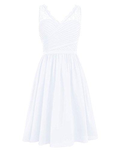 HUINI -  Vestito  - Donna White