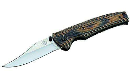 Puma TEC Couteau de Poche, Acier D2, Pas de Clip de Manche en Acier Inoxydable Inoxydable, Liner Lock, G10, pêche rie menöSe