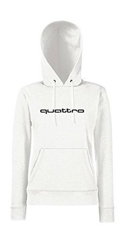 Kapuzenpullover für Frauen - Quattro Weiß