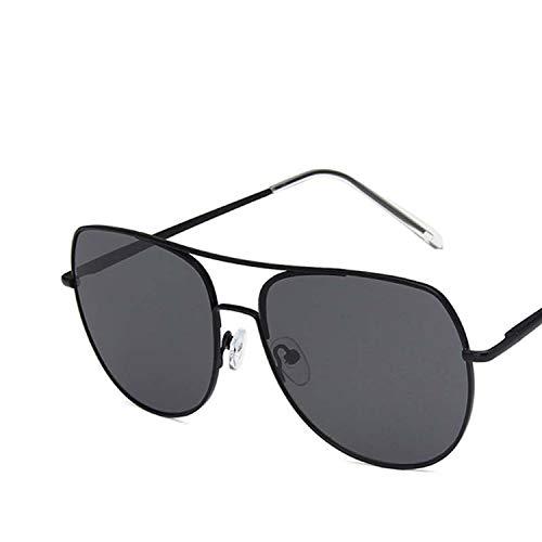 FIRM-CASE Rund Pilot Sonnenbrille Männer Frauen Metall Double Beam Sonnenbrillen Retro Photochromie Brillen, 2