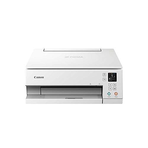 Canon PIXMA TS6351 Farbtintenstrahl-Multifunktionsgerät (Drucken, Scannen, Kopieren, 3, 8 cm LCD Anzeige, WLAN, Print App, 4.800 x 1.200 Dpi) weiß