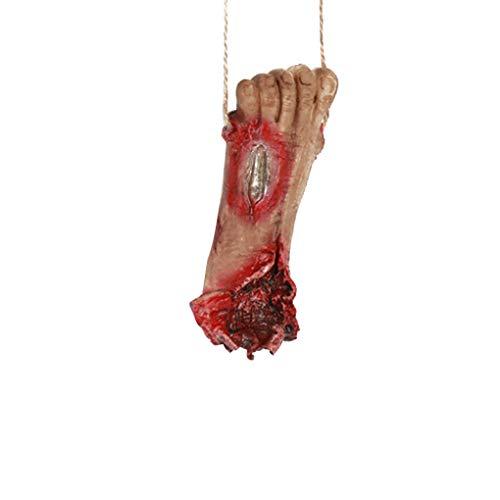 Zerama Blut Gebrochene Hand-Fuß mit Seil Horror Halloween Dekoration Severed Blutige Limbs Hand