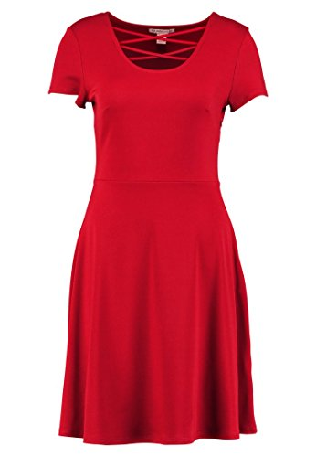Anna Field Damen Jerseykleid mit Ausgefallen designtem Ausschnitt in Dunkelrot, 40