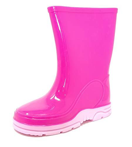 Childrens Kids Wellington Boots Rain Wellies Trendy Pink Girls Mid Calf Snow Boots Size 4-13