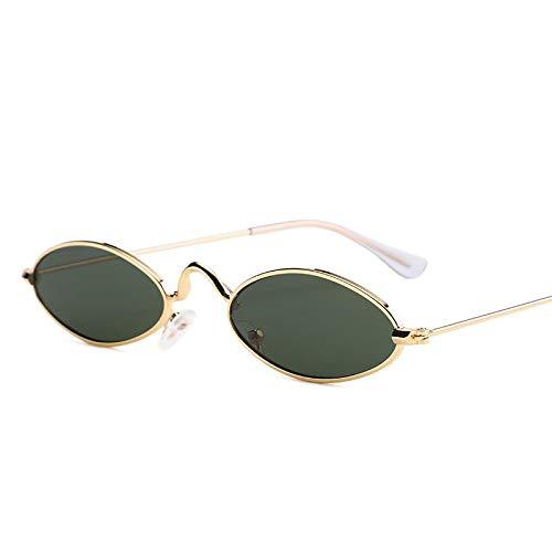 YUHANGH Kleine Sonnenbrille Männer Metall Brillengestell 7 Farben Farbe Objektiv Trend